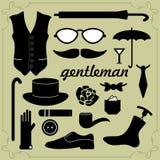 Elementen voor heren Stock Afbeelding