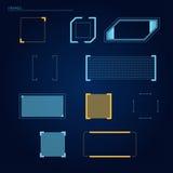 Elementen voor HUD-interface Royalty-vrije Stock Foto's