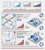Elementen voor infographic Royalty-vrije Stock Foto's