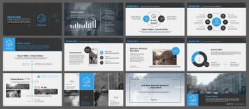 Elementen voor infographics en presentatiemalplaatjes Royalty-vrije Stock Fotografie
