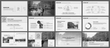 Elementen voor infographics en presentatiemalplaatjes Stock Afbeelding