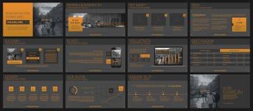 Elementen voor infographics en presentatiemalplaatjes Stock Afbeeldingen
