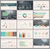 Elementen voor infographics en presentatiemalplaatjes Royalty-vrije Stock Foto's