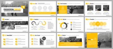 Elementen voor infographics en presentatiemalplaatjes Stock Foto