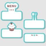 Elementen voor restaurant Royalty-vrije Stock Afbeelding
