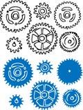 elementet gears illustrationvektorn Royaltyfri Fotografi
