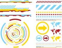 Elementi 1 di disegno Immagine Stock