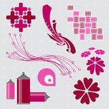 Elementi #2 di disegno Fotografia Stock