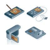 Elementi 44c di disegno. Icone del calcolatore impostate Fotografia Stock Libera da Diritti