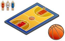 Elementi 48b di disegno. Sport-campo illustrazione di stock