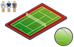 Elementi 48c di disegno. Sport-campo royalty illustrazione gratis