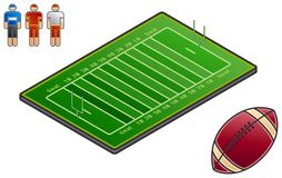 Elementi 48f di disegno. Sport-campo Fotografia Stock Libera da Diritti