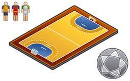 Elementi 48h di disegno. Sport-campo Immagine Stock