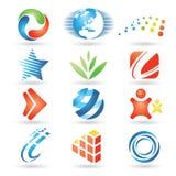 Elementi 5 di disegno di vettore Fotografia Stock Libera da Diritti