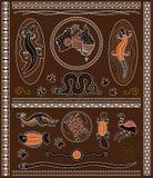 Elementi aborigeni di progettazione Immagini Stock