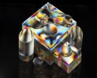Elementi acrilici organizzati Fotografia Stock