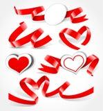 Elementi al giorno del biglietto di S. Valentino Fotografie Stock