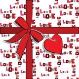 Elementi al giorno di biglietti di S. Valentino, cuore Immagini Stock Libere da Diritti