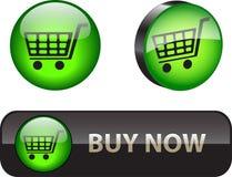 Ora compri i bottoni Fotografia Stock