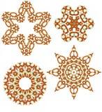 Elementi ambrati di disegno dei branelli di vetro Immagini Stock