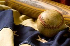 Elementi antichi di baseball Immagini Stock Libere da Diritti