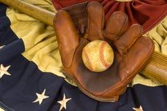 Elementi antichi di baseball Fotografia Stock Libera da Diritti