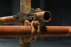 Elementi arrugginiti dell'armatura del metallo Fotografia Stock Libera da Diritti