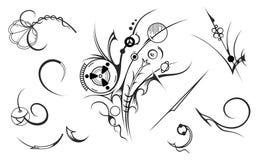 Elementi artistici di disegno Fotografia Stock