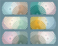6 elementi astratti della geometria Ambiti di provenienza ipnotici Immagine Stock