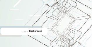 elementi astratti di disegno di tecnologia Fotografia Stock