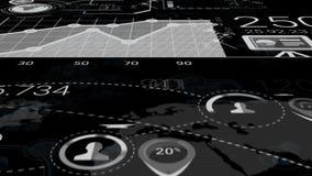 Elementi astratti di Infographics con Alpha Channel stock footage