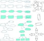 Elementi astratti di progettazione del diagramma di flusso Immagine Stock