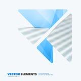 Elementi astratti di progettazione di vettore per la disposizione grafica Busin moderno Immagine Stock