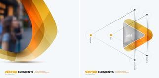 Elementi astratti di progettazione di vettore per la disposizione grafica Busin moderno Immagine Stock Libera da Diritti