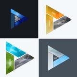 Elementi astratti di progettazione di vettore per la disposizione grafica Modello moderno del fondo di affari con i triangoli col Fotografie Stock Libere da Diritti