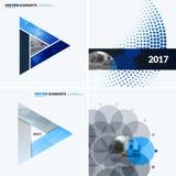Elementi astratti di progettazione di vettore per la disposizione grafica Modello moderno del fondo di affari con i triangoli col Fotografia Stock