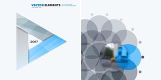 Elementi astratti di progettazione di vettore per la disposizione grafica Modello moderno del fondo di affari con i triangoli col Immagini Stock