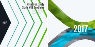 Elementi astratti di progettazione di vettore per la disposizione grafica Immagini Stock
