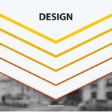 Elementi astratti di progettazione di vettore per la disposizione grafica Fotografia Stock Libera da Diritti