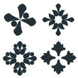 Elementi in bianco e nero immagini stock
