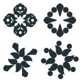 Elementi in bianco e nero illustrazione vettoriale