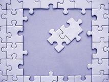 Elementi blu del puzzle Immagine Stock