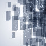 Elementi blu di tecnologia Immagine Stock