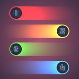 Elementi brillanti illuminati di Infographic. Fotografie Stock Libere da Diritti