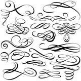 Elementi calligrafici Fotografia Stock Libera da Diritti