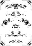 Elementi calligrafici Fotografia Stock