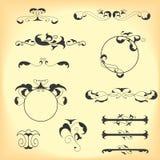 Elementi calligrafici di disegno Fotografia Stock