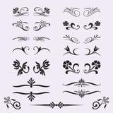 Elementi calligrafici di disegno Fotografia Stock Libera da Diritti