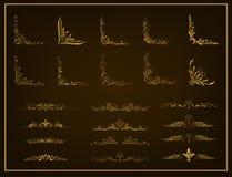 Elementi calligrafici di disegno Immagini Stock