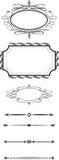 Elementi calligrafici di progettazione illustrazione vettoriale